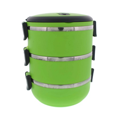 Three Tier 71oz 2 1l Stacking Insulated Lunch And Bento