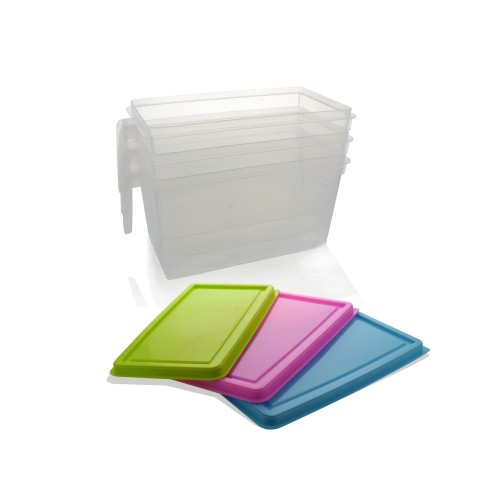 Stackable Kitchen Storage Air Tight Plastic Containers 1.2 Gallon ...