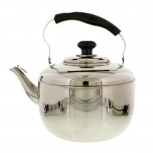 Large 7QT (6.8L) Stainless Steel Tea Kettle with Ergonomic Handle for Home or Restaurant